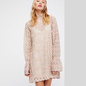 Brand new Free People Crochet Lace Mini Dress NWT